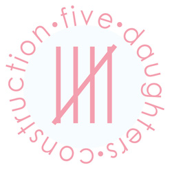 Five Daughters Construction Pink Logo